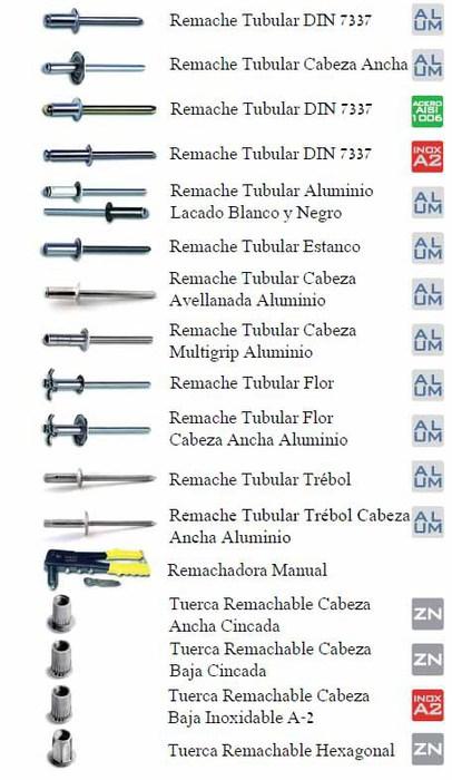 Amasuin remaches for Precio de remaches de aluminio
